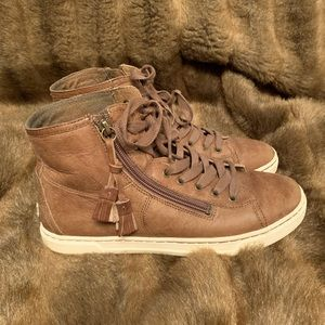 """UGG """"Blaney"""" Leather High Top Sneaker"""